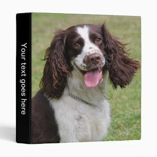 English Springer Spaniel dog beautiful photo album Binder