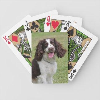 English Springer Spaniel dog beautiful photo Bicycle Playing Cards