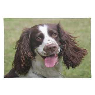 English Springer Spaniel dog beautiful photo, gift Cloth Placemat