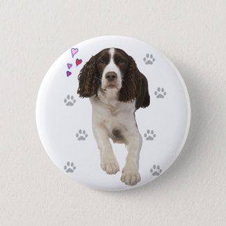 English Springer Spaniel Dog Button