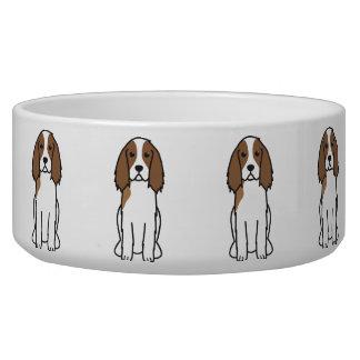 English Springer Spaniel Dog Cartoon Bowl