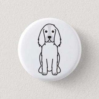 English Springer Spaniel Dog Cartoon Button