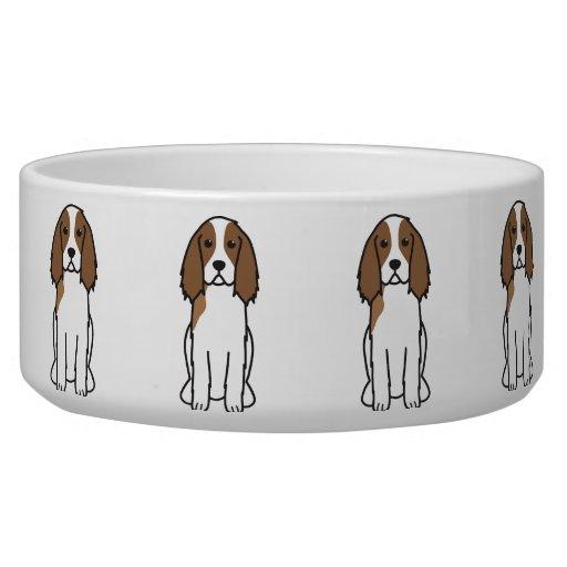 English Springer Spaniel Dog Cartoon Dog Bowl