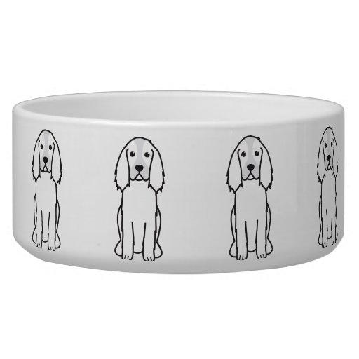 English Springer Spaniel Dog Cartoon Pet Bowls