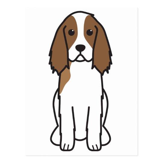 English Springer Spaniel Dog Cartoon Postcard