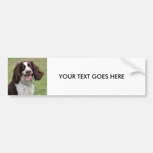 English Springer Spaniel dog custom bumper sticker