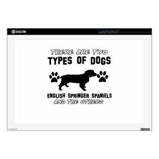 """English Springer Spaniel dog designs 17"""" Laptop Skin"""