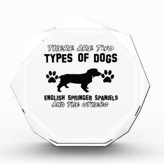 English Springer Spaniel dog designs Acrylic Award