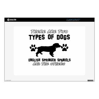 English Springer Spaniel dog designs Decal For Laptop