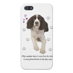 Case Savvy iPhone 5 Matte Finish Case with Springer Spaniel Phone Cases design