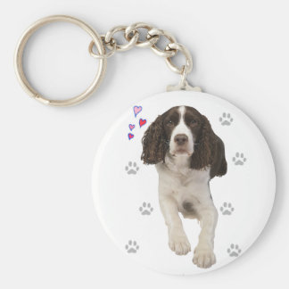 English Springer Spaniel Dog Keychain