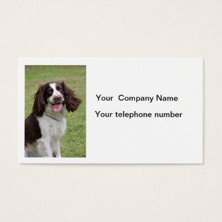 English Springer Spaniel dog photo business card