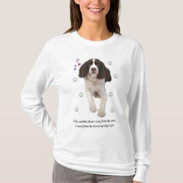 ironydesignphotos English Springer Spaniel Dog T-Shirt