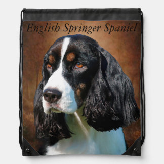 English Springer Spaniel Drawstring Bag