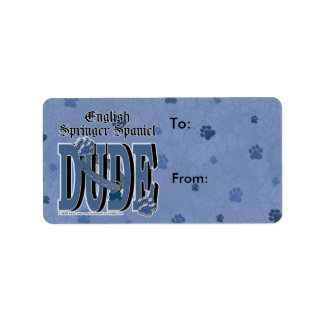 English Springer Spaniel DUDE Label
