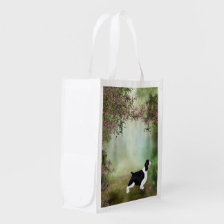 English Springer Spaniel Folding Shopping Bag Market Totes