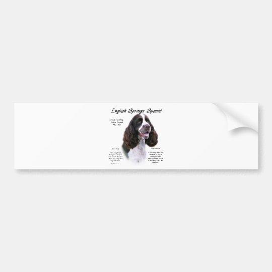 English Springer Spaniel (liver) History Design Bumper Sticker