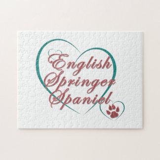 English Springer Spaniel Love Puzzle