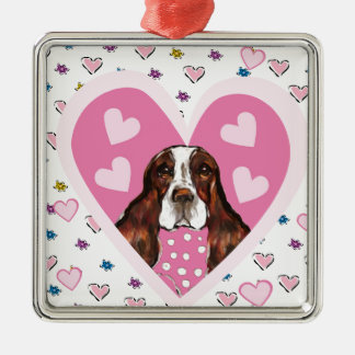 ENGLISH SPRINGER SPANIEL METAL ORNAMENT