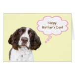 English Springer Spaniel Mother's Day Card