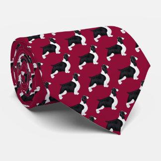 English Springer Spaniel Neck Tie - Burgandy
