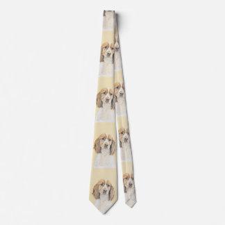 English Springer Spaniel Painting Original Dog Art Neck Tie
