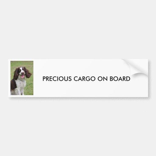 English Springer Spaniel  PRECIOUS CARGO ON BOARD Bumper Sticker