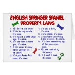 ENGLISH SPRINGER SPANIEL Property Laws 2 Greeting Card