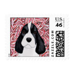English Springer Spaniel Puppy Christmas Stamp