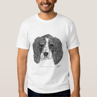 English Springer Spaniel Puppy Pen and Ink T-shirt