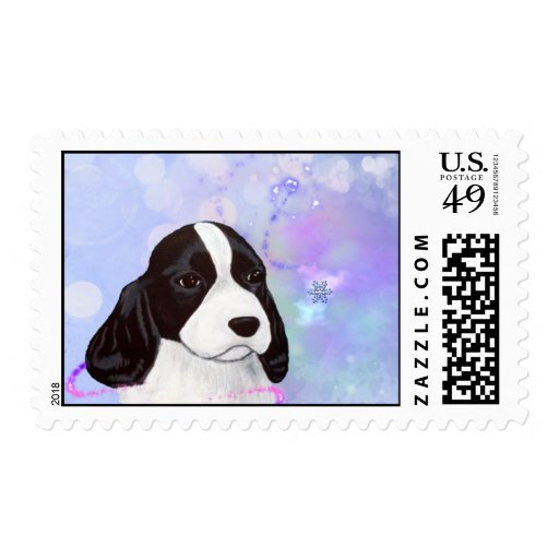 English Springer Spaniel Puppy Winter Stamp 2