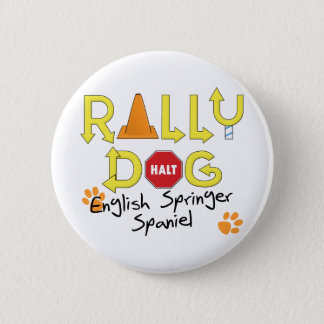 English Springer Spaniel Rally Dog Button