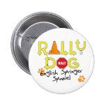 English Springer Spaniel Rally Dog 2 Inch Round Button