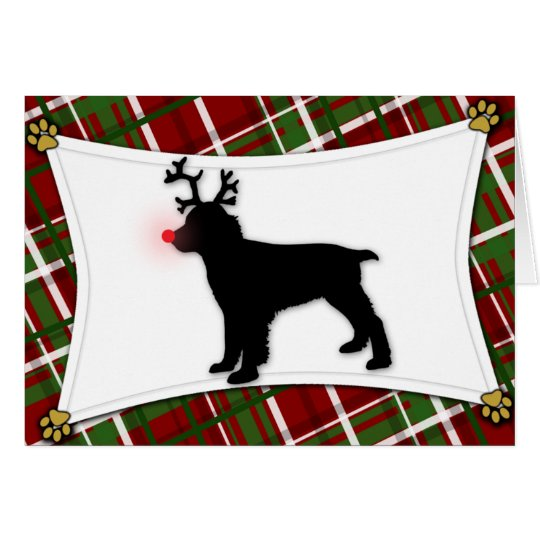 English Springer Spaniel Reindeer Christmas Card
