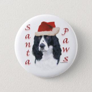 English Springer Spaniel Santa Paws Pinback Button