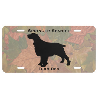 English Springer Spaniel Silhouette Customizable License Plate