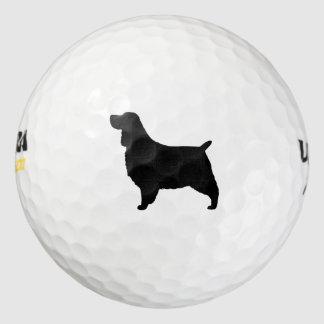 English Springer Spaniel Silhouette Pack Of Golf Balls