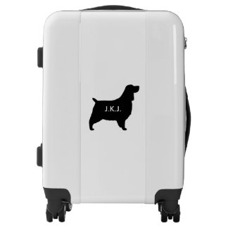 English Springer Spaniel Silhouette Personalized Luggage