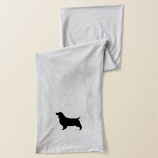 English Springer Spaniel Silhouette Scarf