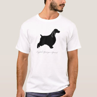 english springer spaniel silhouette t shirt