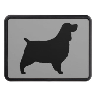 english springer spaniel silhouette trailer hitch cover