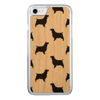 English Springer Spaniel Silhouettes Pattern Carved iPhone 7 Case