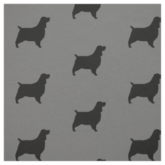 english springer spaniel silhouettes pattern fabric