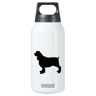 English Springer Spaniel Silhoutee, Freehand Drawn Insulated Water Bottle