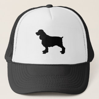 English Springer Spaniel Silhoutee, Freehand Drawn Trucker Hat