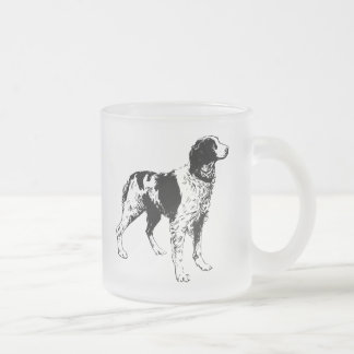English Springer Spaniel  Sporting Pets Dogs Frosted Glass Coffee Mug