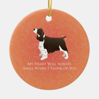 English Springer Spaniel Thinking of You -Memorial Ceramic Ornament