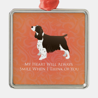 English Springer Spaniel Thinking of You -Memorial Metal Ornament