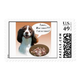 English Springer Spaniel Turkey Postage Stamp