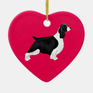 English Springer Spaniel Valentine Heart Ornament